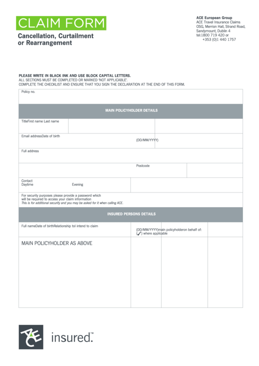 57 Insurance Claim Form Templates free to download in PDF
