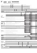 Form 40nr - Alabama Individual Nonresident Income Tax Return (2015)