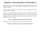 Dch-0569-div - Michigan Divorce Or Annulment Record Form