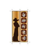 Western Bookmark-cowboy