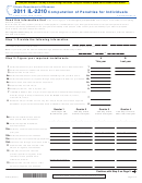 Form Il-2210 - Computation Of Penalties For Individuals - 2011