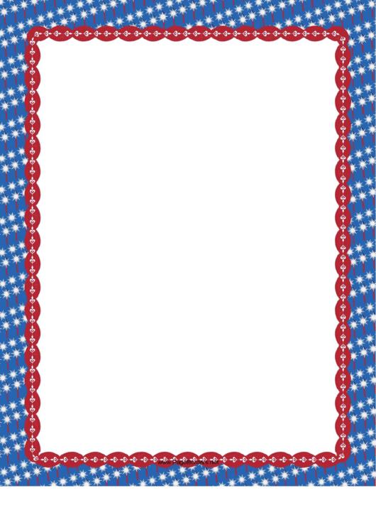 Patriotic Sparkler Border
