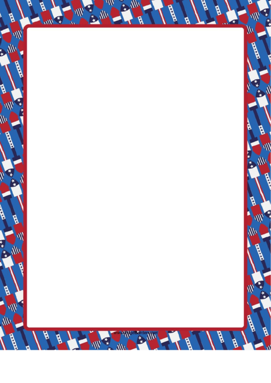 Fireworks Border Printable pdf