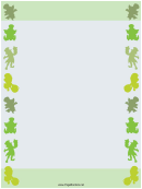 Leprechauns St Patrick's Day Border Templates