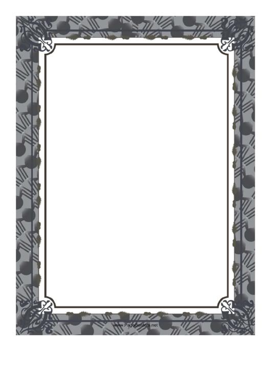 Gray Halloween Border Printable pdf