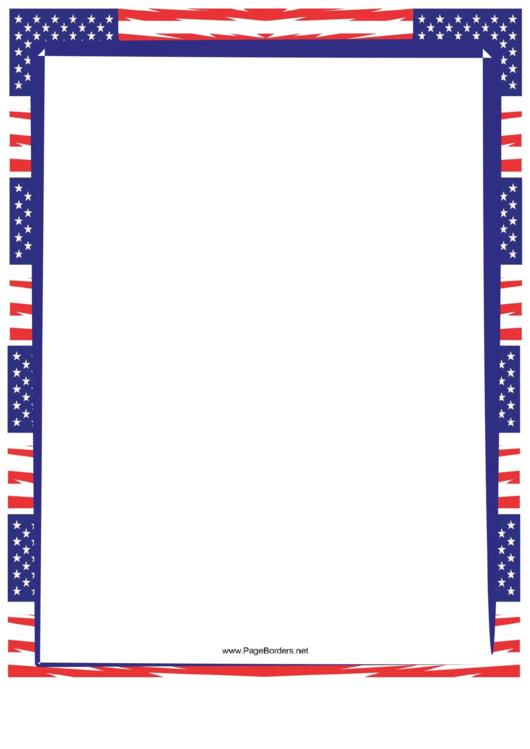 Us Flag Border