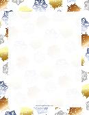 Blue And Bronze Snowflake Border