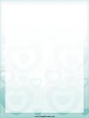 Turquoise Heart Border
