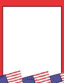 Red American Flag Border