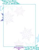 Purple And Green Snowflake Border