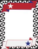 Usa Banner Border