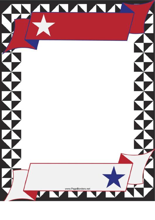Usa Banner Border Printable pdf