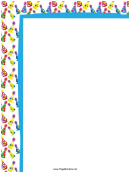 Party Hats Party Border