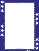 Fourth Of July Sparkler Border