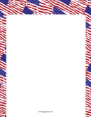 Patriotic Red, White And Blue Us Flag Border Template