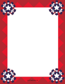 Bright Red Patriotic Page Border Template