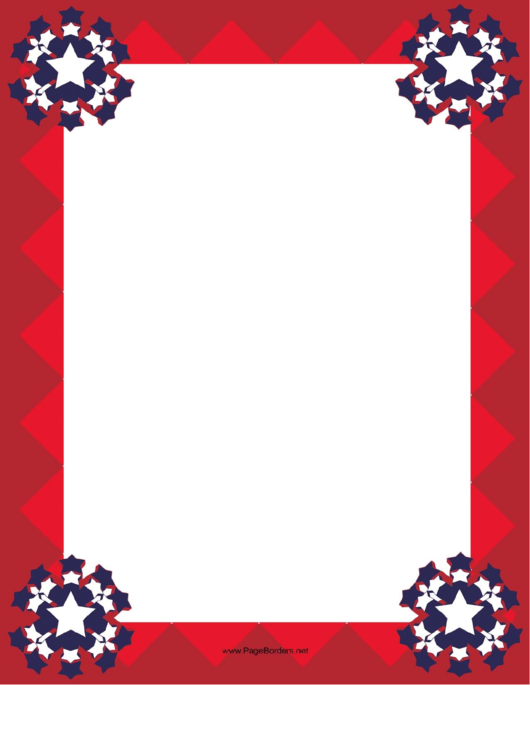 Red Patriotic Border