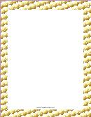Rows Of Flakes Snowflake Border