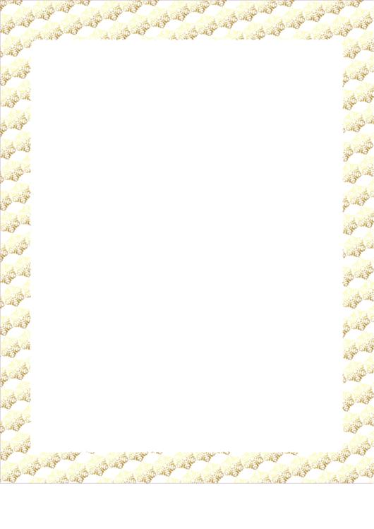 Rows Of Flakes Snowflake Border Printable pdf
