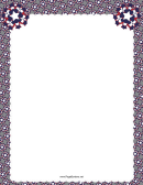 Grey Patriotic Page Border Template With Stars