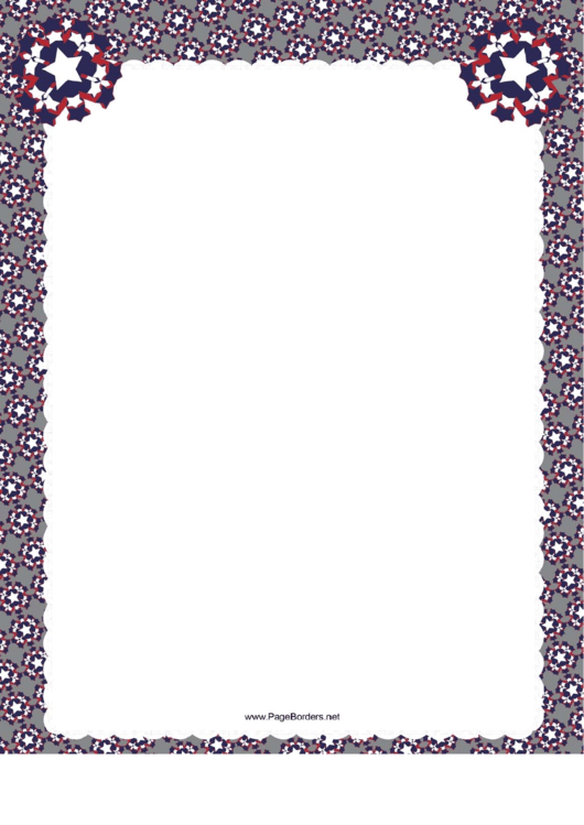grey patriotic page border template with stars printable pdf download