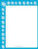 Offset Blue Snowflake Border