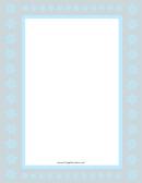 Light Blue And Gray Snowflake Border