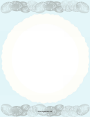 Blue Easter Page Border Template