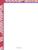 Red Us Flag L-shaped Page Border Template