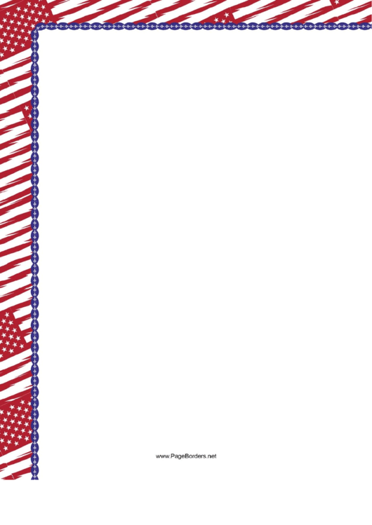 Red Us Flag Border