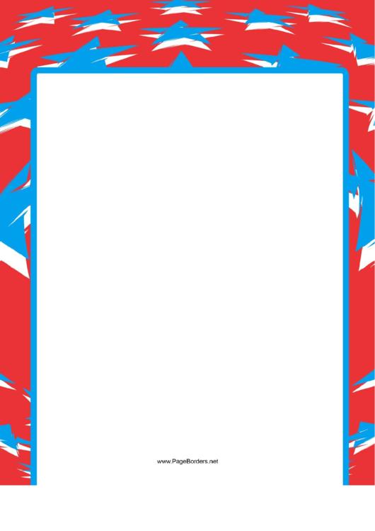 Stars And Stripes Border Printable pdf