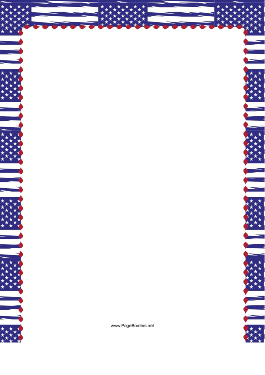 Blue Us Flag Border