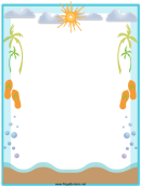 Beach Page Border Template