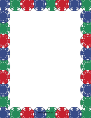 Colorful Poker Chips Border Template