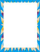 Blue Coloring Pencils Border