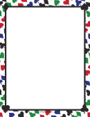 Colorful Card Suites Border
