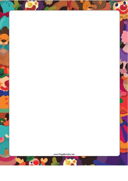 Circus Border Printable pdf