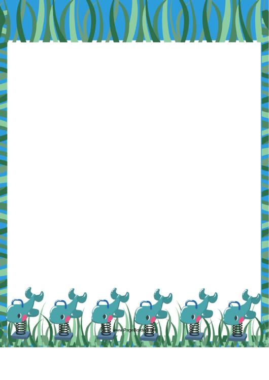 Blue Playground Border Printable pdf