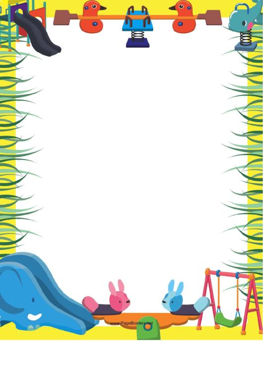 Nursery Toys Border Printable pdf