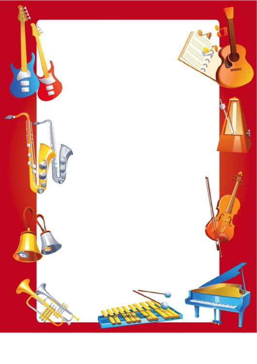 Instruments Border Printable pdf