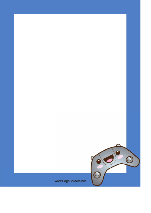 Video Game Controller Border Printable pdf