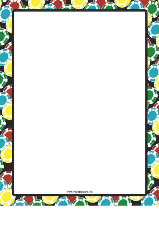 Colorful Discs Border Printable pdf