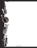 Black-and-white Instruments Border