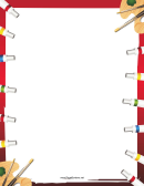 Paint Tubes Border