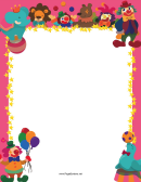 Pink Circus Border