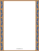 Blue Sandal Border