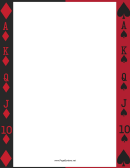 Deck Of Cards Border