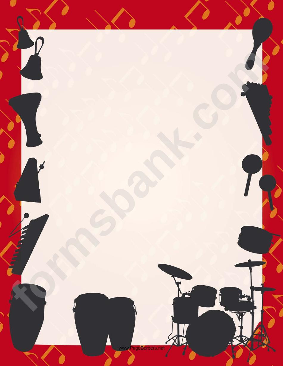 Percussion Silhouette Border