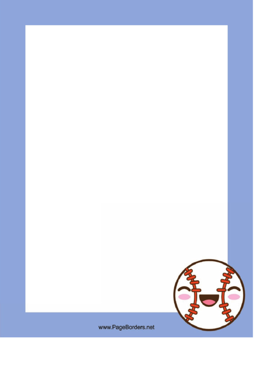 Happy Baseball Border Printable pdf
