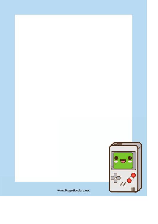 Gameboy Border Printable pdf